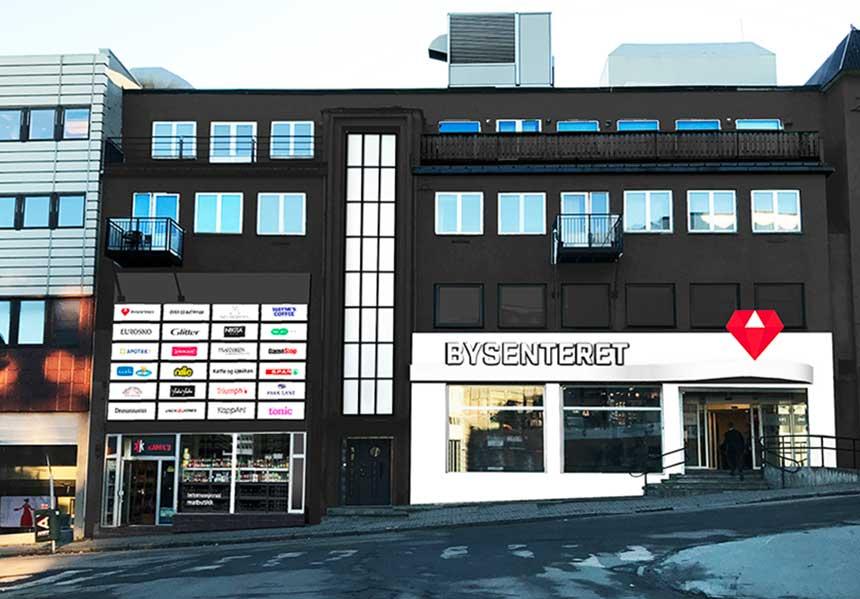 Fasadeskisse Bysenteret Harstad